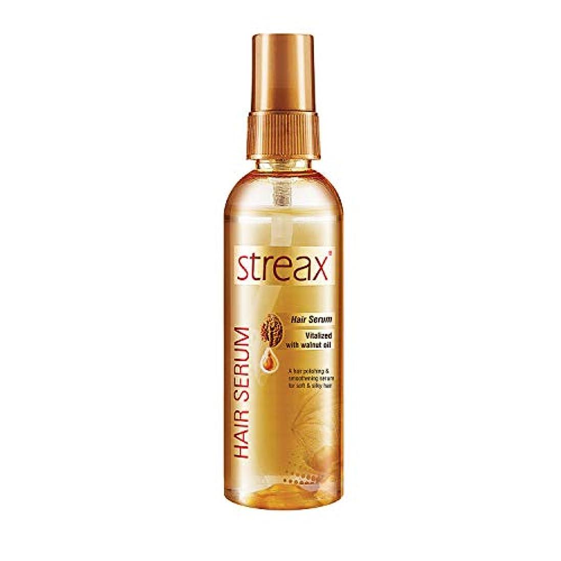 クルミオイルで強化しStreax髪血清は縮れフリーサテンスムースヘア100ミリリットルを提供します( 3.5オンス)Streax Hair Serum Enriched with Walnut Oil Gives Frizz-free...
