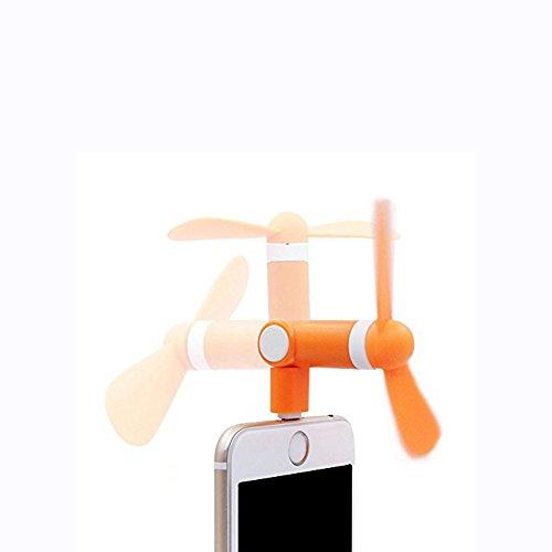 スマホ扇風機 ミニファン 180度回る 角度調整可能 省エネ 手持ち iphone6S PLUS 7PLUS 小さい ファン 静か 携帯便利 TPE 環境保護材料 超小型ポータブル モバイルファン 収納便利(オレンジ)