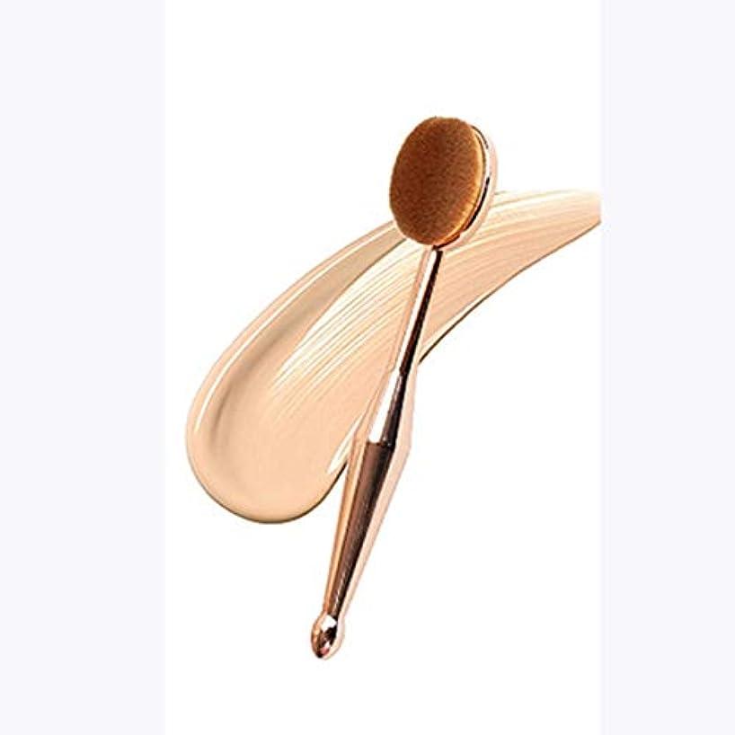 落花生無数の霊Intercoreyの歯ブラシの形の基礎ブラシの女性はツールを作りますふたが付いている化粧品のブラシは基礎ブラシツールを作ります