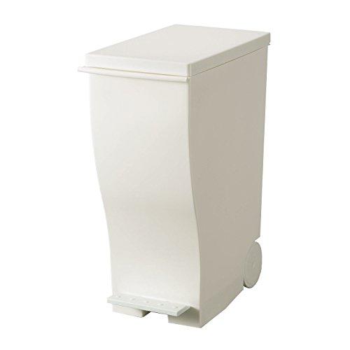 RoomClip商品情報 - I'mD (アイムディ) ゴミ箱 キャスター付 Kcud クード スリムペダル ホワイト 33L KUD30W