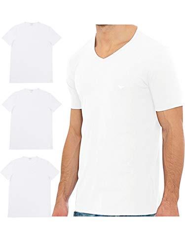 エンポリオアルマーニ EMPORIO ARMANI VネックTシャツ3枚セット 3Pack Pure Cotton V Neck T-shirt CC722-110856
