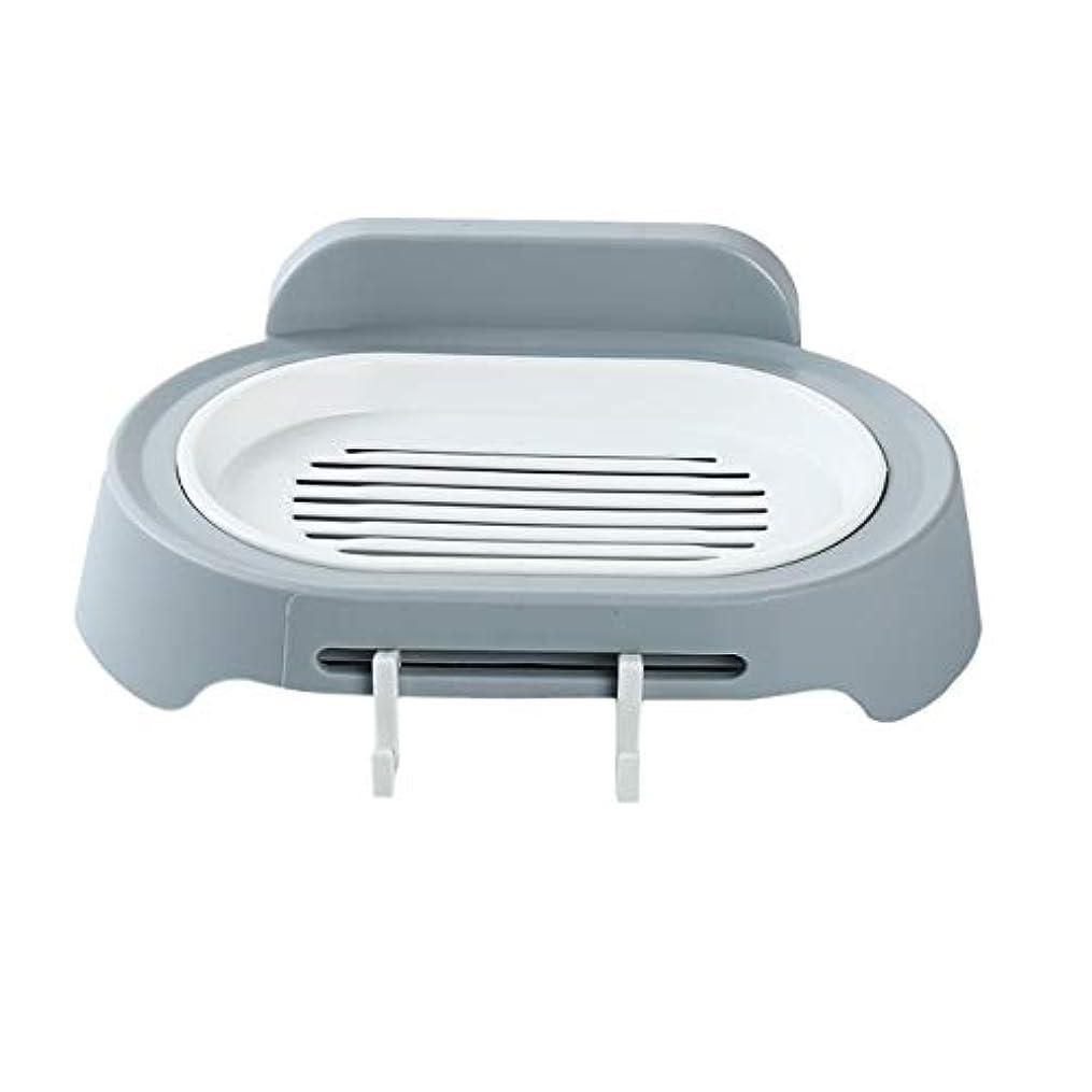 マーチャンダイザー苦痛原始的なZALING 灰色のホックが付いているの浴室の石鹸の貯蔵の吸引の壁に取り付けられた石鹸のオルガナイザー