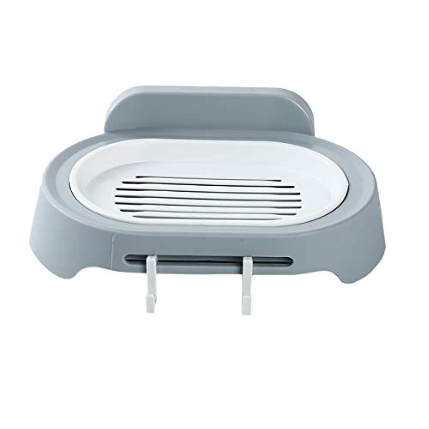 資産アーク発表するZALING 灰色のホックが付いているの浴室の石鹸の貯蔵の吸引の壁に取り付けられた石鹸のオルガナイザー