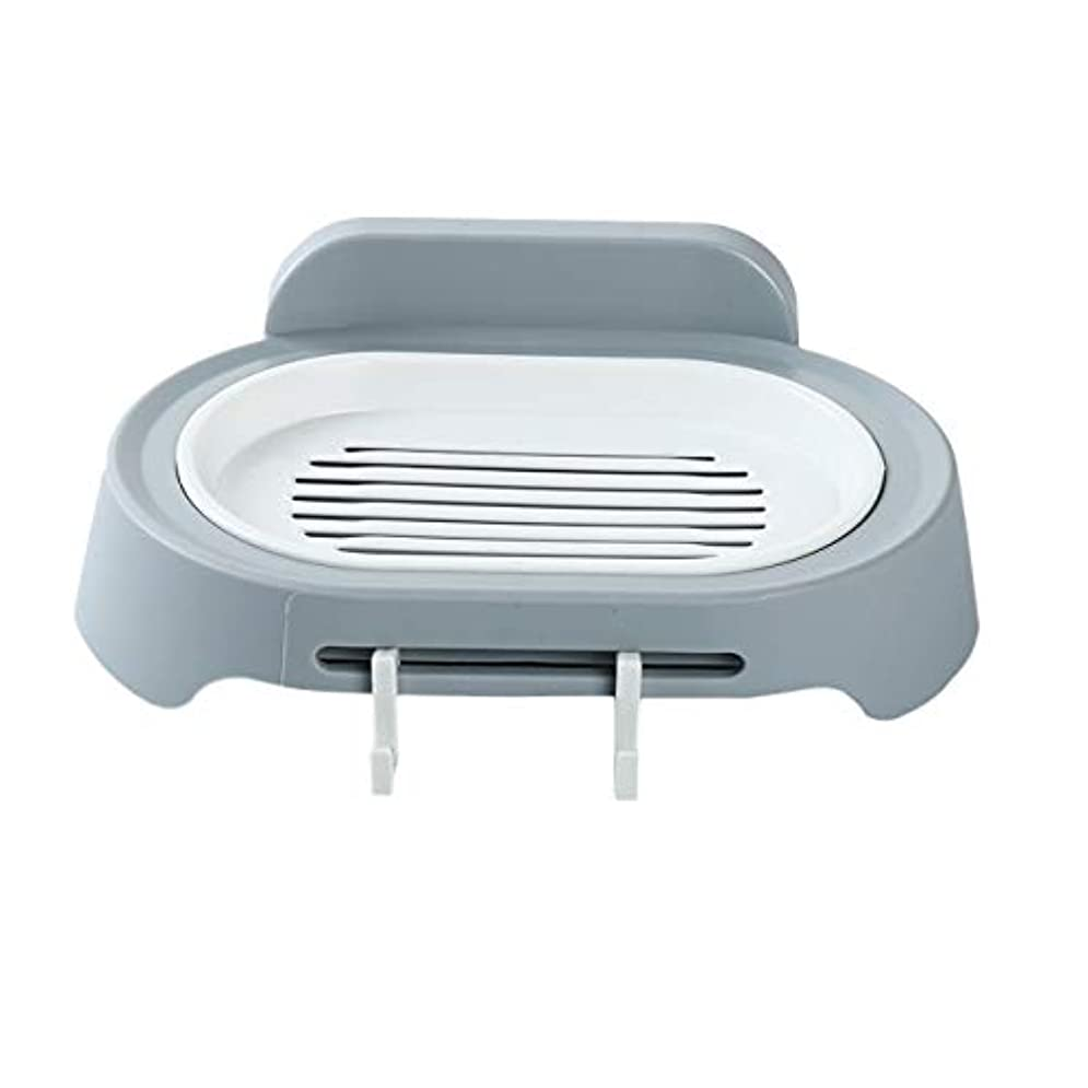 作曲する再生穀物ZALING 灰色のホックが付いているの浴室の石鹸の貯蔵の吸引の壁に取り付けられた石鹸のオルガナイザー