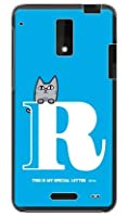 SECOND SKIN letter&cat ブルー R (クリア) design by PansonWorks/for HTC J ISW13HT/au AHTJ13-PCCL-203-Y595