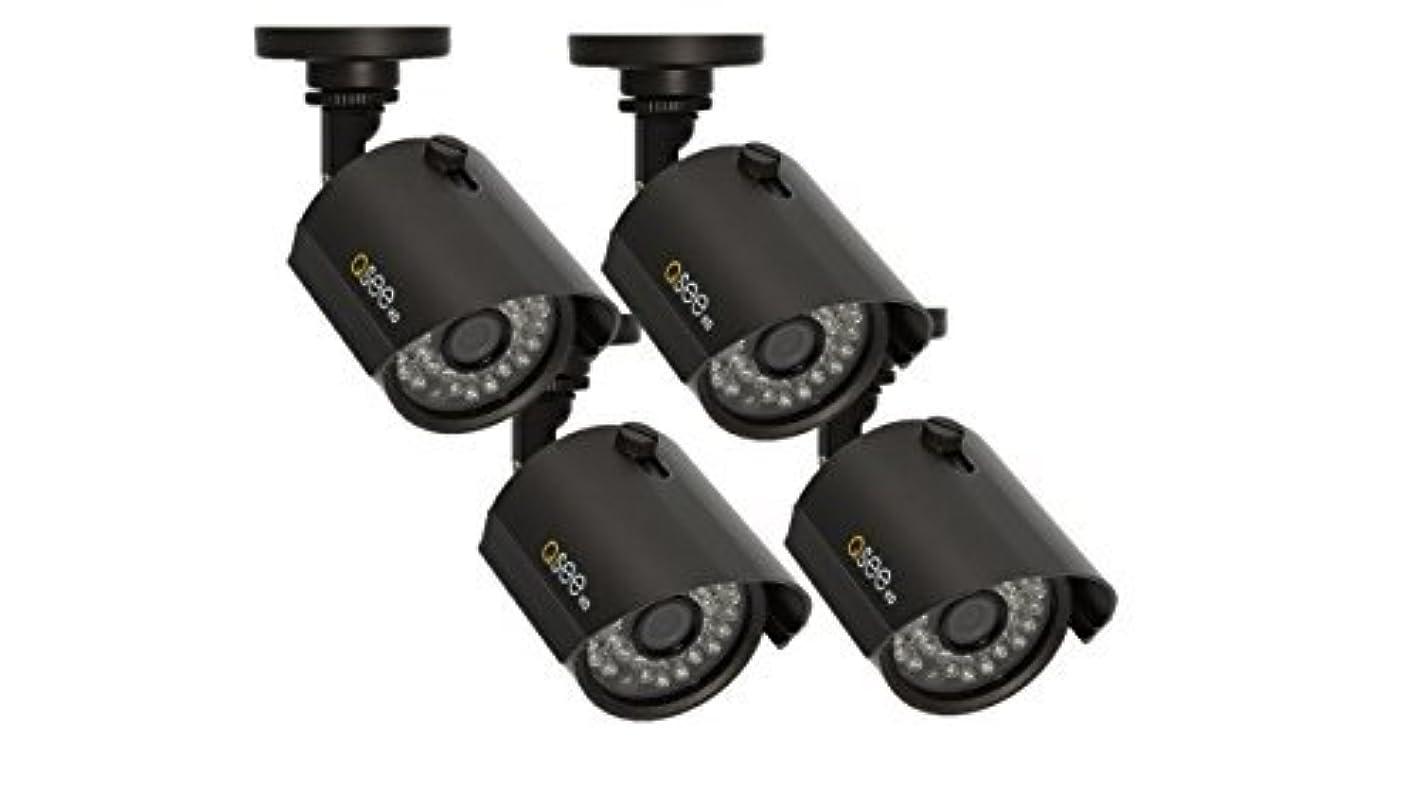 ホイスト取り替える雄大なQ-See QTH7211B-4 720p BNC HD Bullet Camera 4 Pack with 100' Night Vision (Black) [並行輸入品]