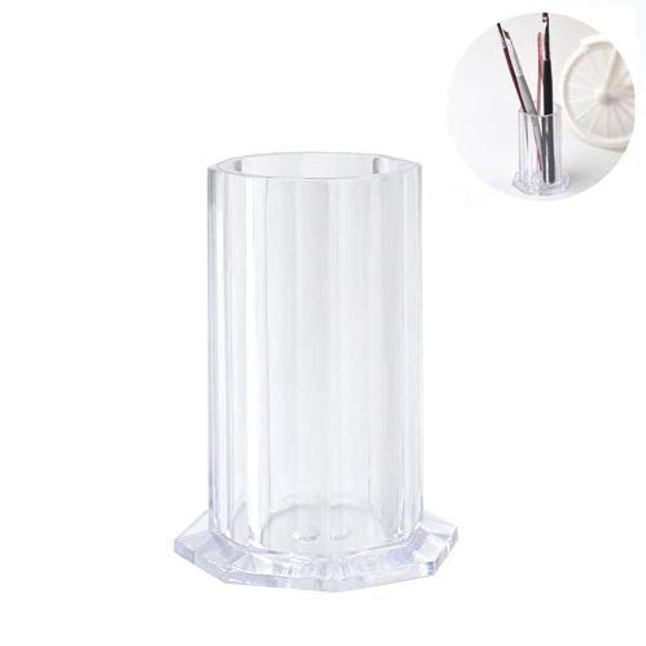オゾン適性メッセンジャーネイルアートブラシストレージホルダーネイルペイントペンケースオーガナイザー中空容器バケツチューブ新しいマニキュアツール