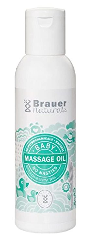 稚魚喉が渇いた重なる【Brauer】Naturals Baby Massage Oil ベビーマッサージオイル 100ml