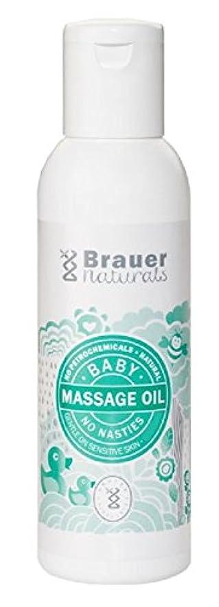 伝染性の第四克服する【Brauer】Naturals Baby Massage Oil ベビーマッサージオイル 100ml