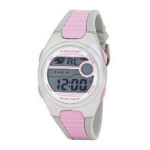 腕時計 Dunlop Women's Digital Watch with LCD Dial Digital Display and Pink Plastic or PU Strap DUN-194-M05【並行輸入品】