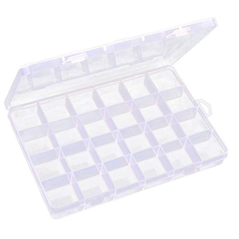 お勧め小石子供っぽいInjoyo 収納ボックス プラスチック 24区画 ジュエリー ビーズ ネイルチップ アクセサリー収納 小物入れ 多機能