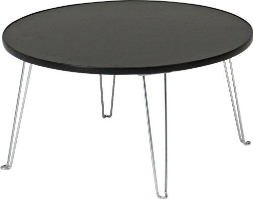 不二貿易 カラーテーブル ラウンド 幅60×奥行60×高さ31cm ブラック