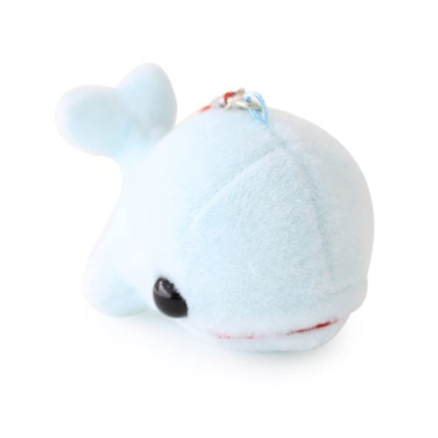 Phone Ring Toy - Cotton ANI Dolphin Dong dong 9cm Blue