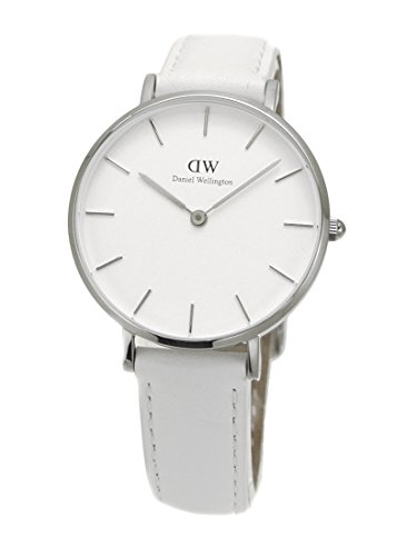 【国内正規品】ダニエルウェリントン Daniel Wellington 腕時計 Classic PETITE BONDI/クラシック ペティット ボンダイ レディース 32mm レザーベルト ホワイト x シルバー DW00100190