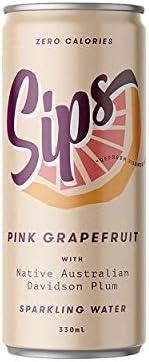 Sips Sparkling Water Sips Sparkling Water - Pink Grapefruit, 12 x 330 ml