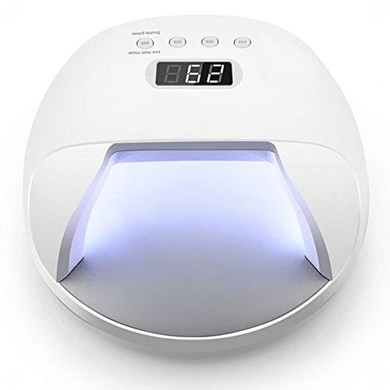 バラ色口手荷物YESONEEP 電池の釘機械が付いている電気釘ライト処置機械によって導かれる光線療法ランプ48Wを貯えることができます (Size : 48W)