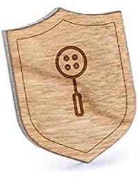 Straining Ladleラペルピン、木製ピンとタイタック|素朴な、ミニマルGroomsmenギフト、ウェディングアクセサリー