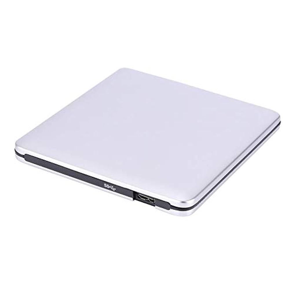 章海外で船上FOSA USB 3.0外付けDVD / CD - RWドライブバーナースリムポータブルドライバforネットブックMacbookノートパソコンデスクトップブラック、シルバーオプション, fosagn9upqbz4k-01