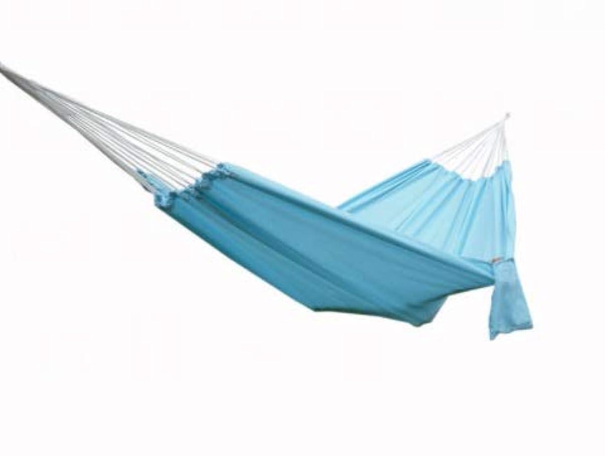 選択するキャビン岩屋外観光ガーデンハンモックパラシュート布ホリデービーチダブル折りたたみハンモック (Color : ブルー)