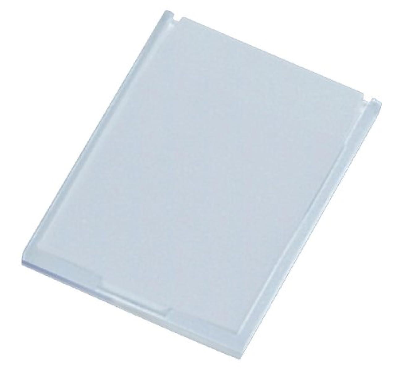 信条しょっぱい発表するミニコンパクトミラー 39×49㎜ ホワイト YK-150