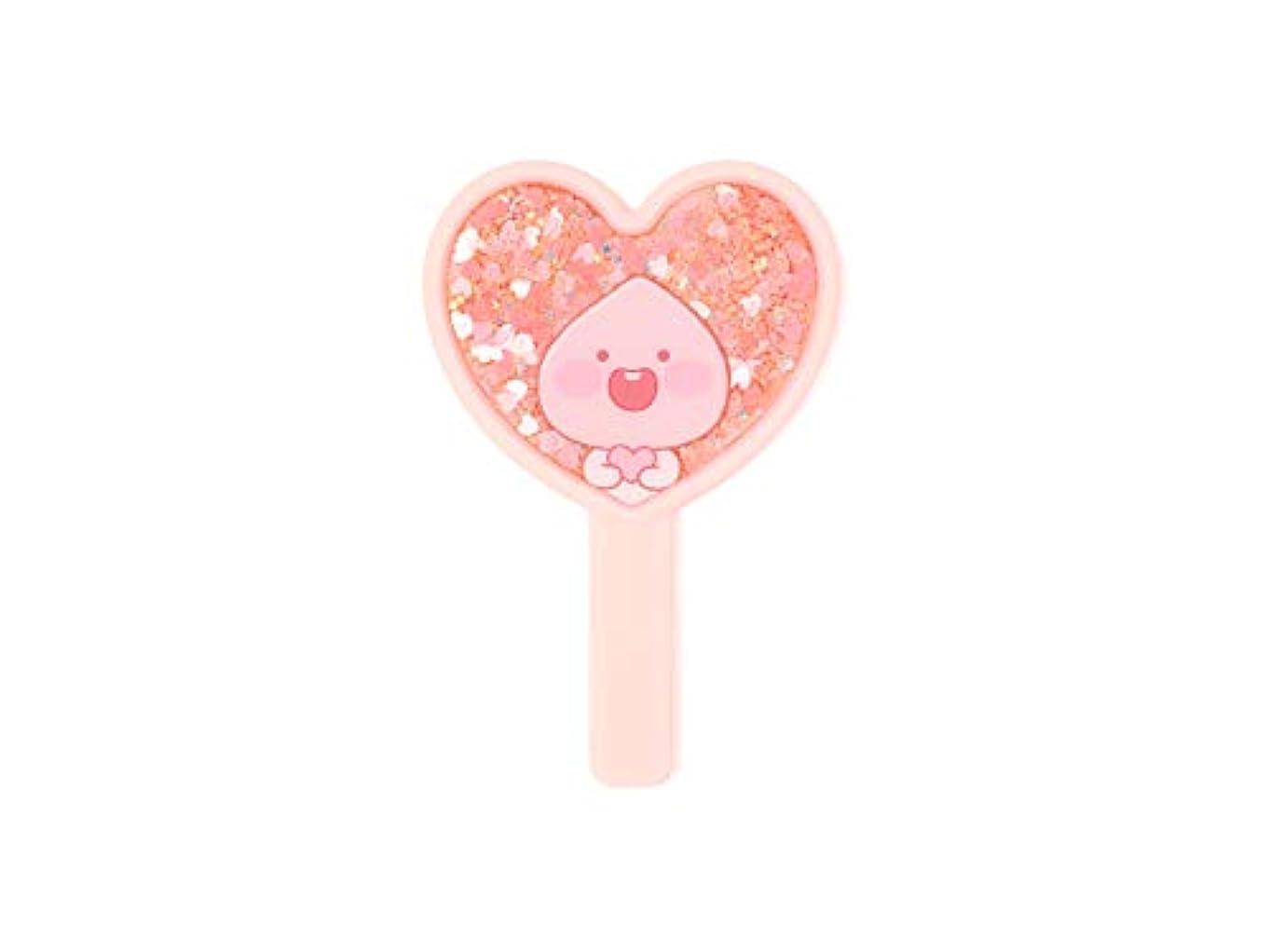 グラス記録有名[オフィシャル] カカオフレンズ – ラブリーアピーチ グリッターミラー (ピンク) KAKAO FRIENDS - Lovely Apeach Glitter Mirror (Pink)