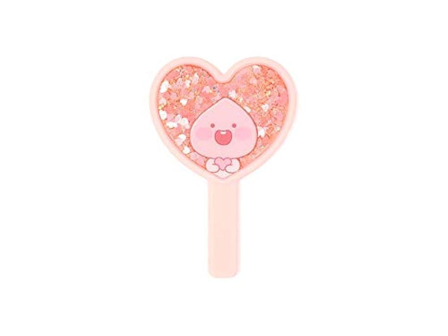 金銭的なよろめくベーコン[オフィシャル] カカオフレンズ – ラブリーアピーチ グリッターミラー (ピンク) KAKAO FRIENDS - Lovely Apeach Glitter Mirror (Pink)