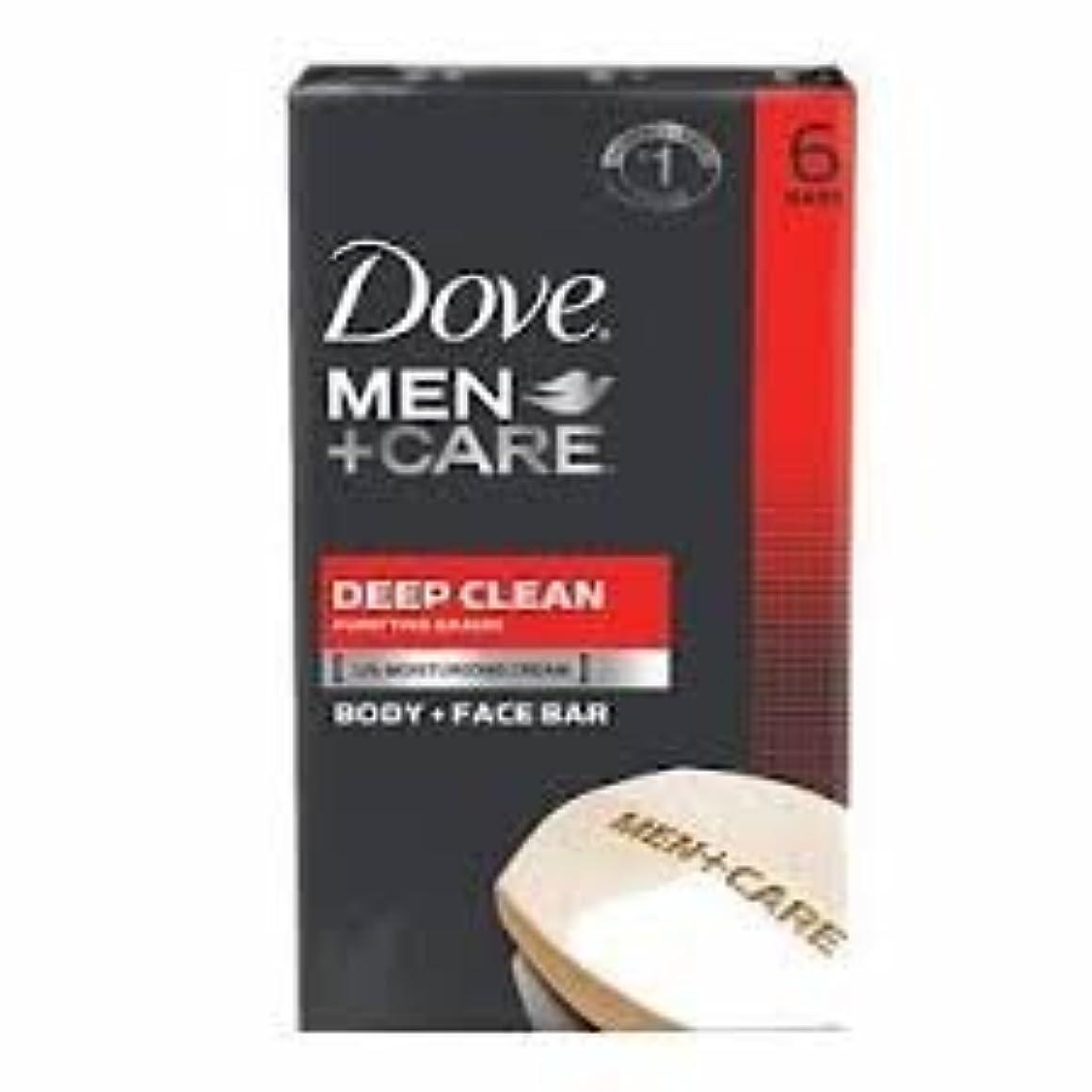 自転車称賛有効Dove Men + Care Body and Face Bar, Deep Clean 4oz x 6Bars ダブ メン プラスケア ディープ クリーン ソープ 4oz x 6個