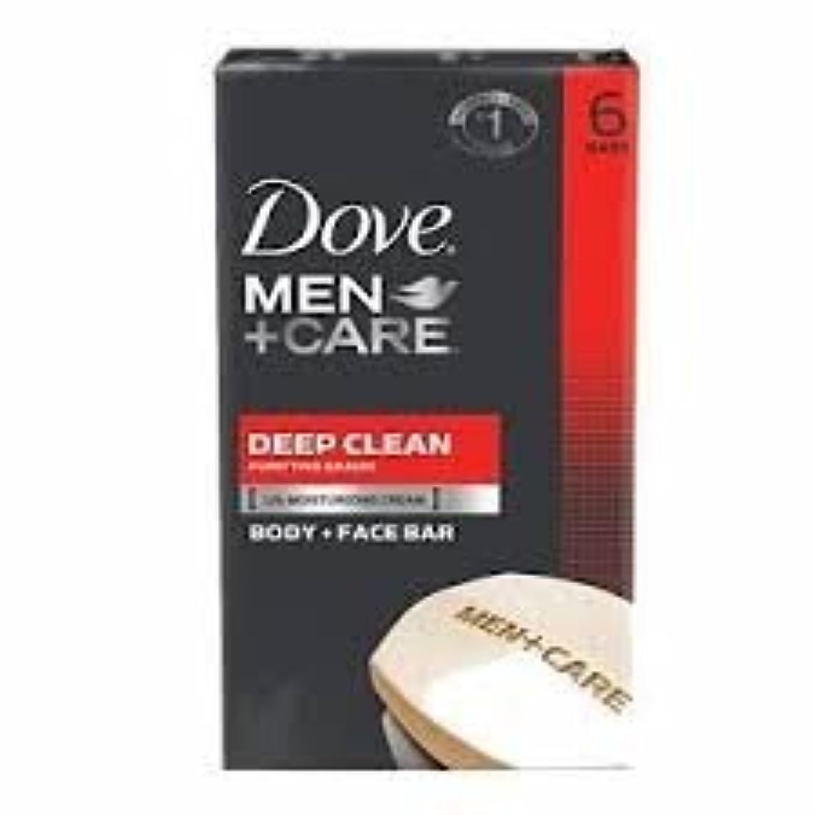 バラバラにするインフルエンザ正確にDove Men + Care Body and Face Bar, Deep Clean 4oz x 6Bars ダブ メン プラスケア ディープ クリーン ソープ 4oz x 6個