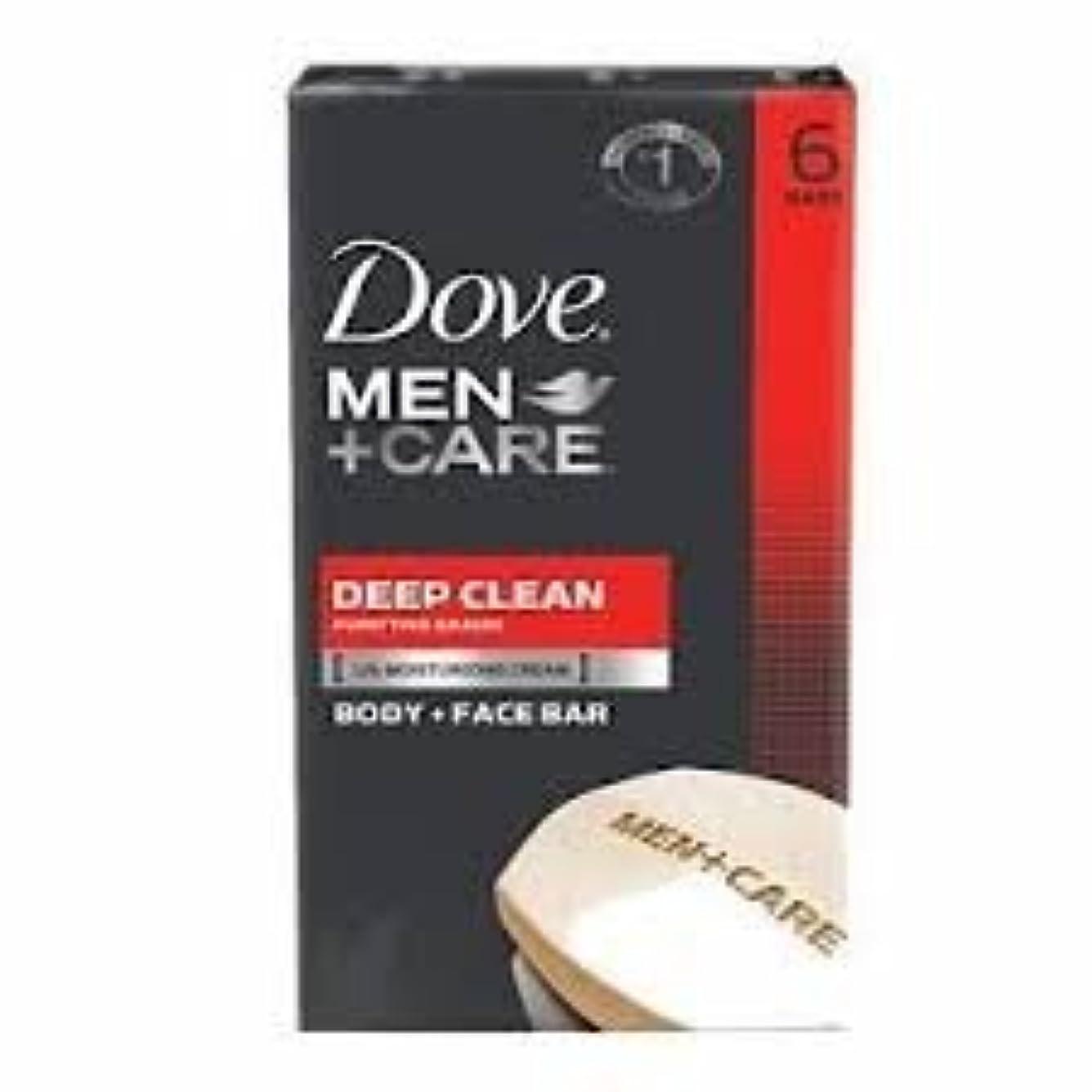 家事静める完全に乾くDove Men + Care Body and Face Bar, Deep Clean 4oz x 6Bars ダブ メン プラスケア ディープ クリーン ソープ 4oz x 6個
