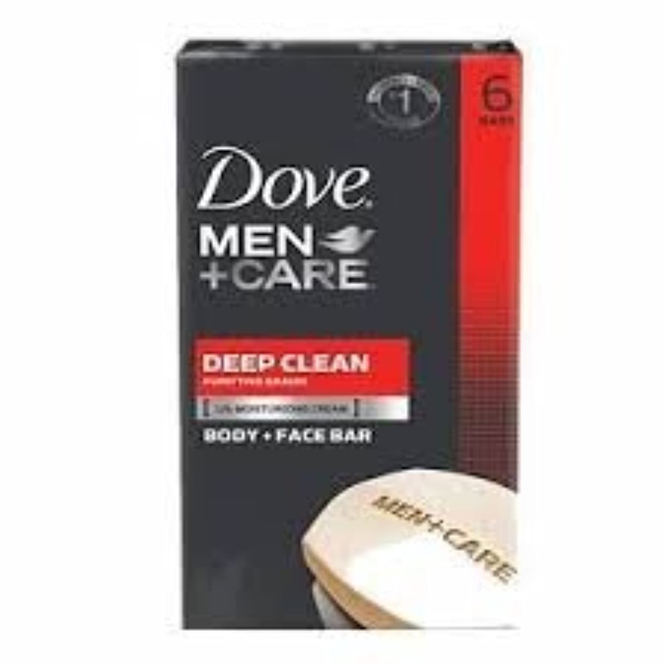 レーダージュニアバッチDove Men + Care Body and Face Bar, Deep Clean 4oz x 6Bars ダブ メン プラスケア ディープ クリーン ソープ 4oz x 6個