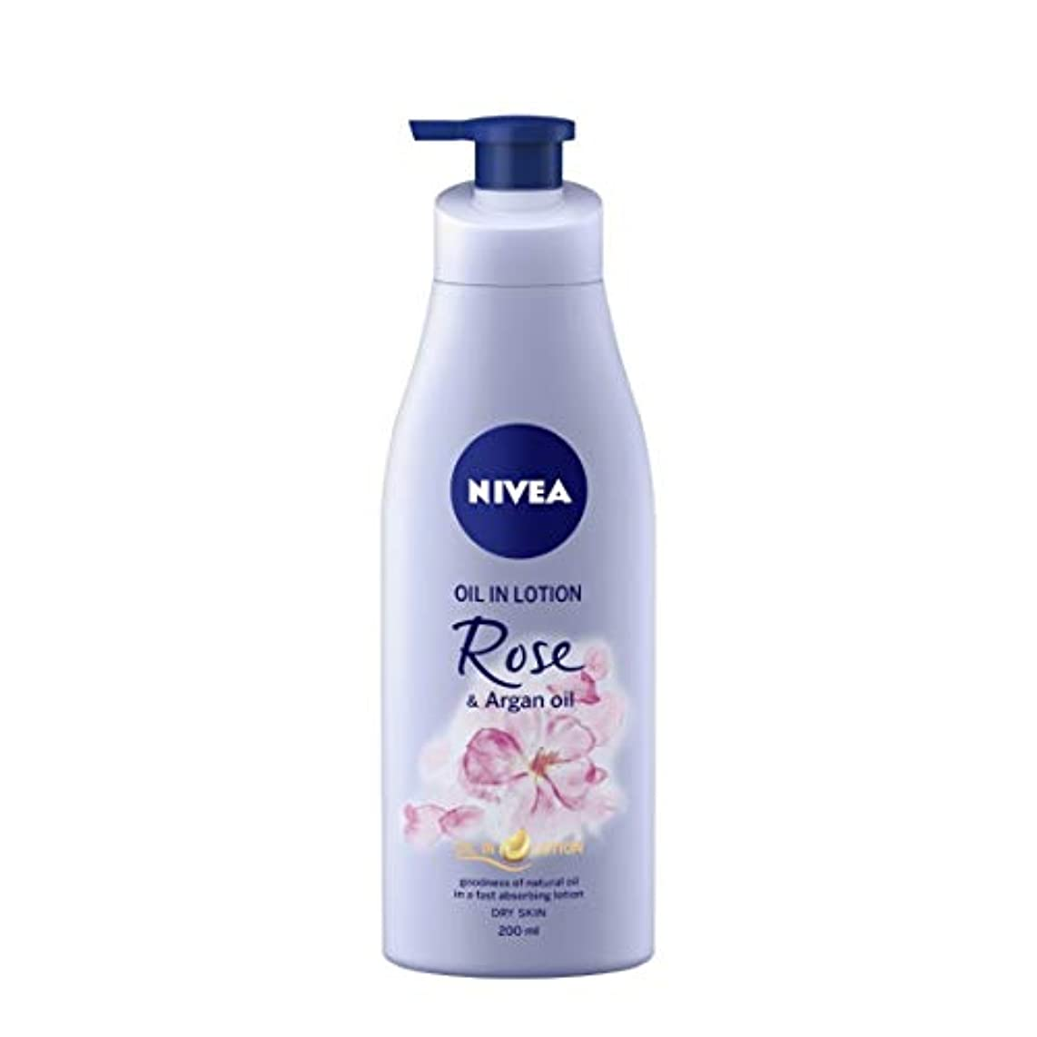 脅迫レタス流出NIVEA Oil in Lotion, Rose and Argan Oil, 200ml