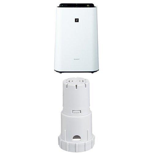 シャープ 加湿空気清浄機 プラズマクラスター搭載 ホワイト KC-F50-W + イオンカートリッジ FZ-AG01K1 セット