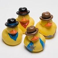 Dozen Cowboy Rubber Ducky Party Accessory [並行輸入品]
