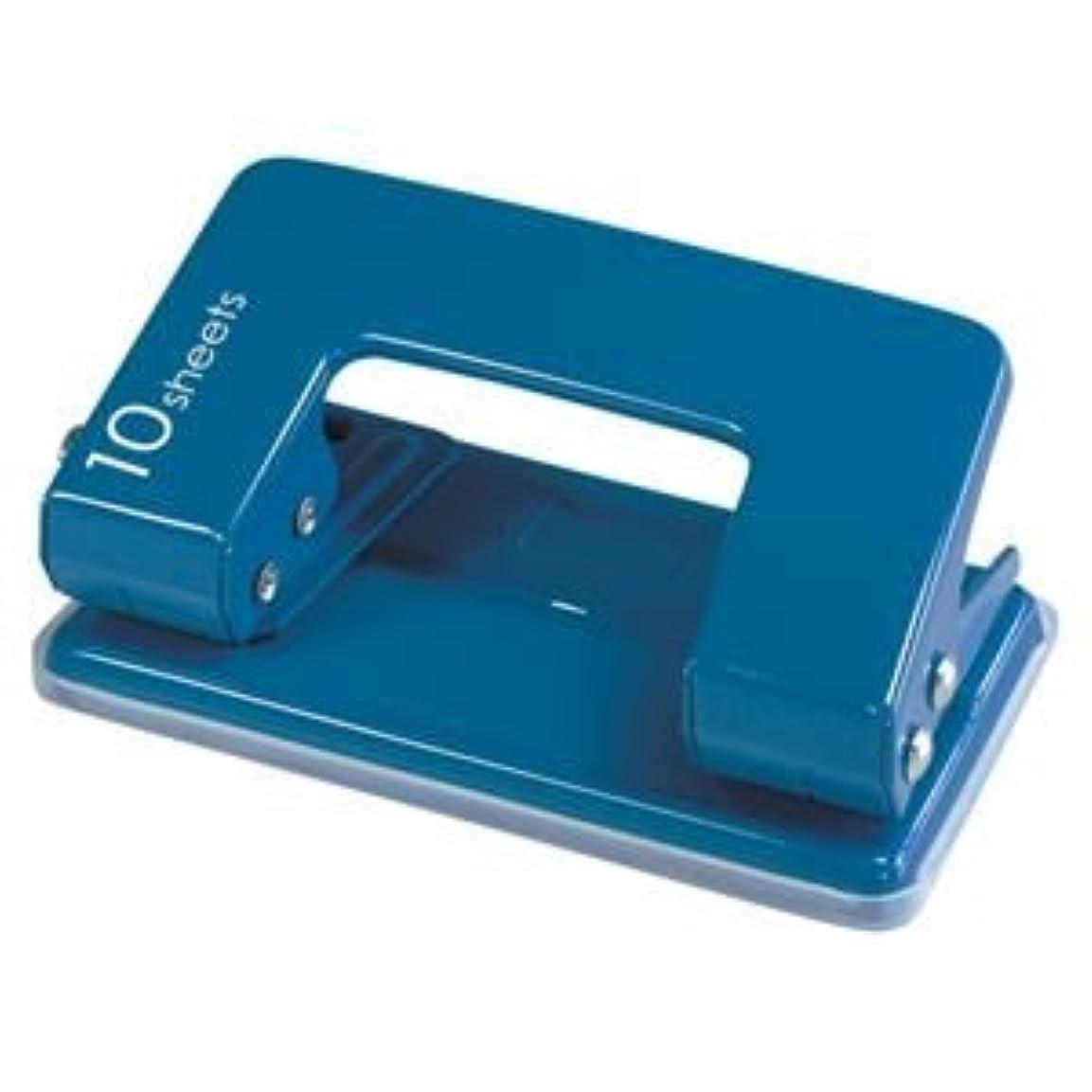 ラベンダー販売員白い(業務用セット) カール 2穴パンチ CPN-10-B ブルー 1台入 【×5セット】
