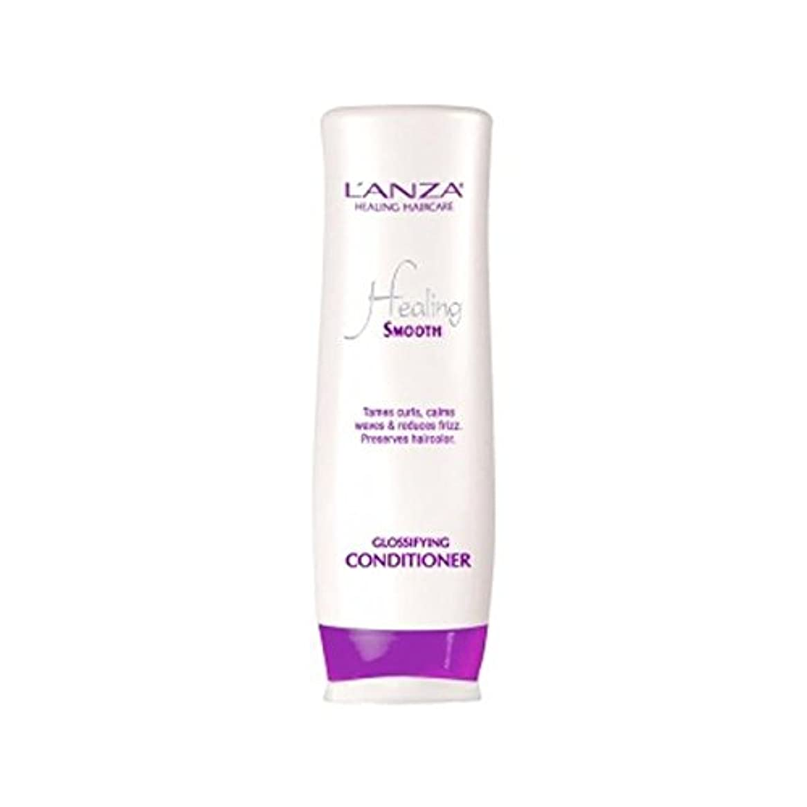 L'Anza Healing Smooth Glossifying Conditioner (250ml) (Pack of 6) - スムーズなコンディショナーを癒し'アンザ(250ミリリットル) x6 [並行輸入品]