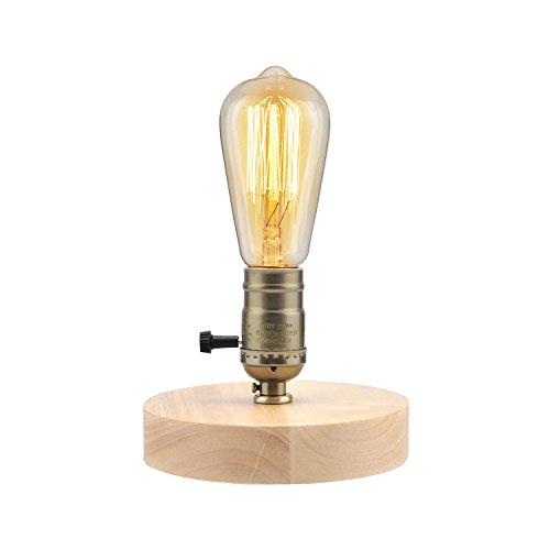 ASOKO アンティークランプ 調光器付き 木ベース E26...