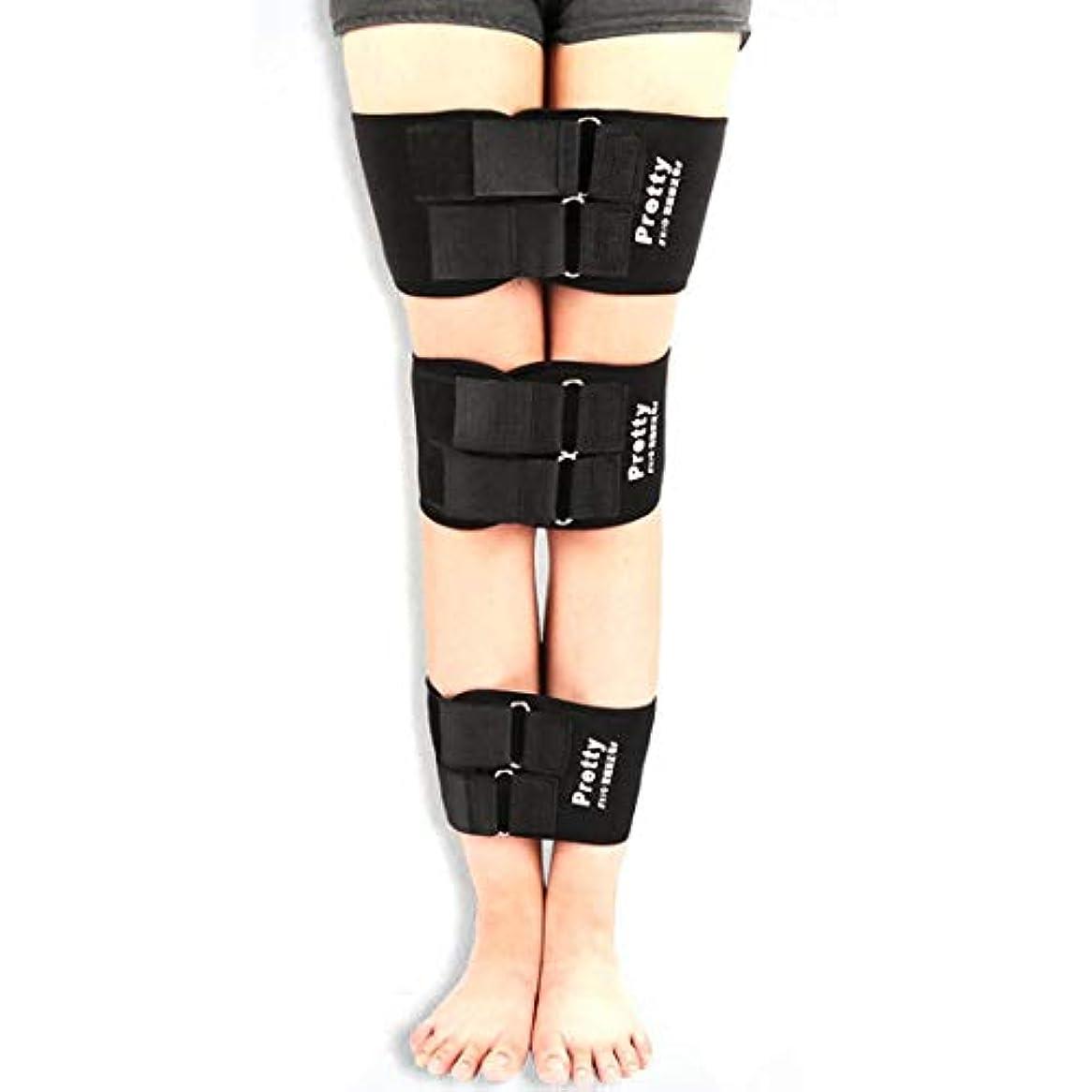 バーゲンイソギンチャク鎮痛剤3ピース/セットO/Xレッグコレクターブレースバンデージレッグコレクションベルトストレートニングバンデージ腿ニーブレースバンドサポート (Panda) (色:紫)