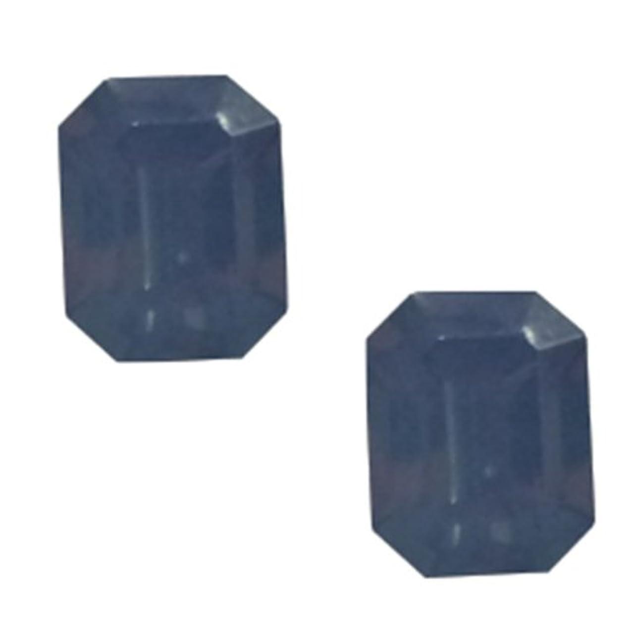 やりすぎ衝突楕円形POSH ART ネイルパーツ長方形型 4*6mm 10P ブルーオパール