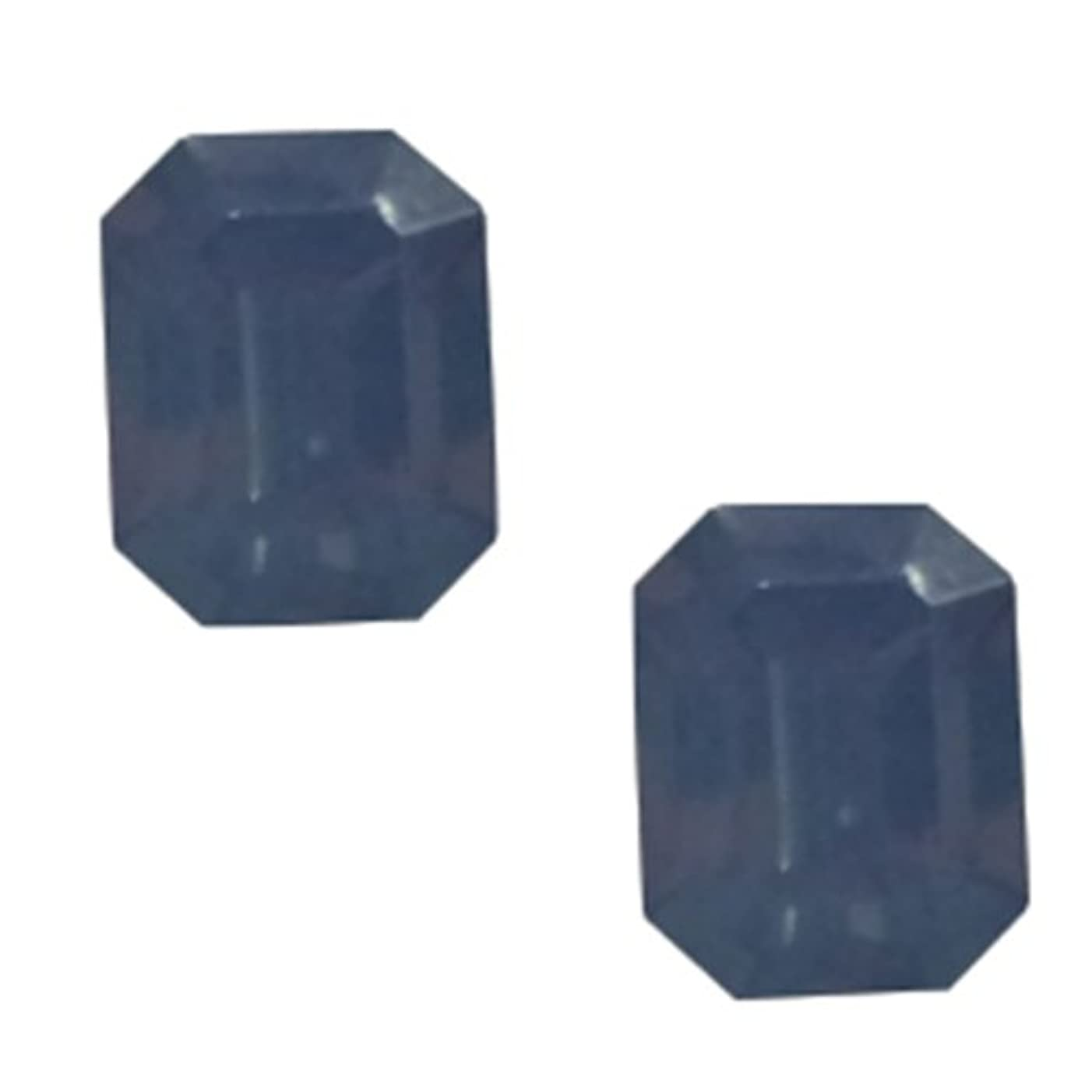 光沢発見乳白色POSH ART ネイルパーツ長方形型 4*6mm 10P ブルーオパール