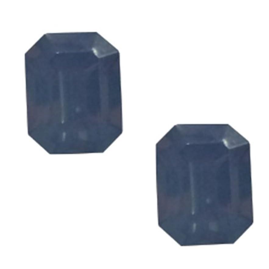 スペース置くためにパック食事POSH ART ネイルパーツ長方形型 4*6mm 10P ブルーオパール