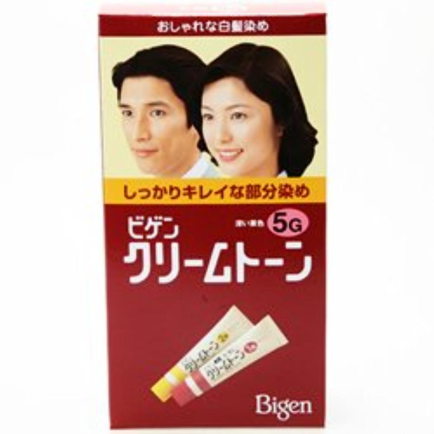 聴覚障害者風買い物に行くビゲンクリームトーン 5G 深い栗色 (40g+40g)