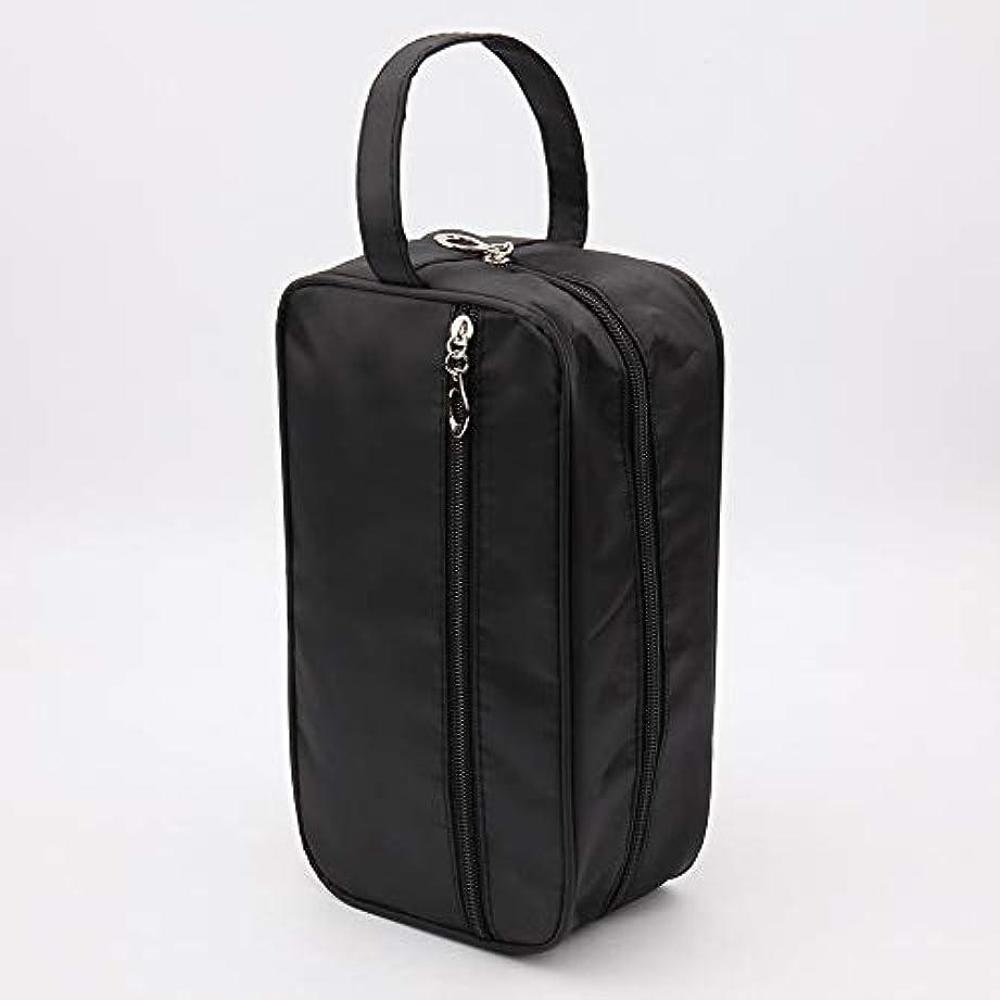 赤ちゃん女性どきどき新しい女性と男性大防水化粧バッグナイロン旅行化粧品バッグオーガナイザーケース必要なメイクアップ洗面化粧品バッグ (Color : Black)