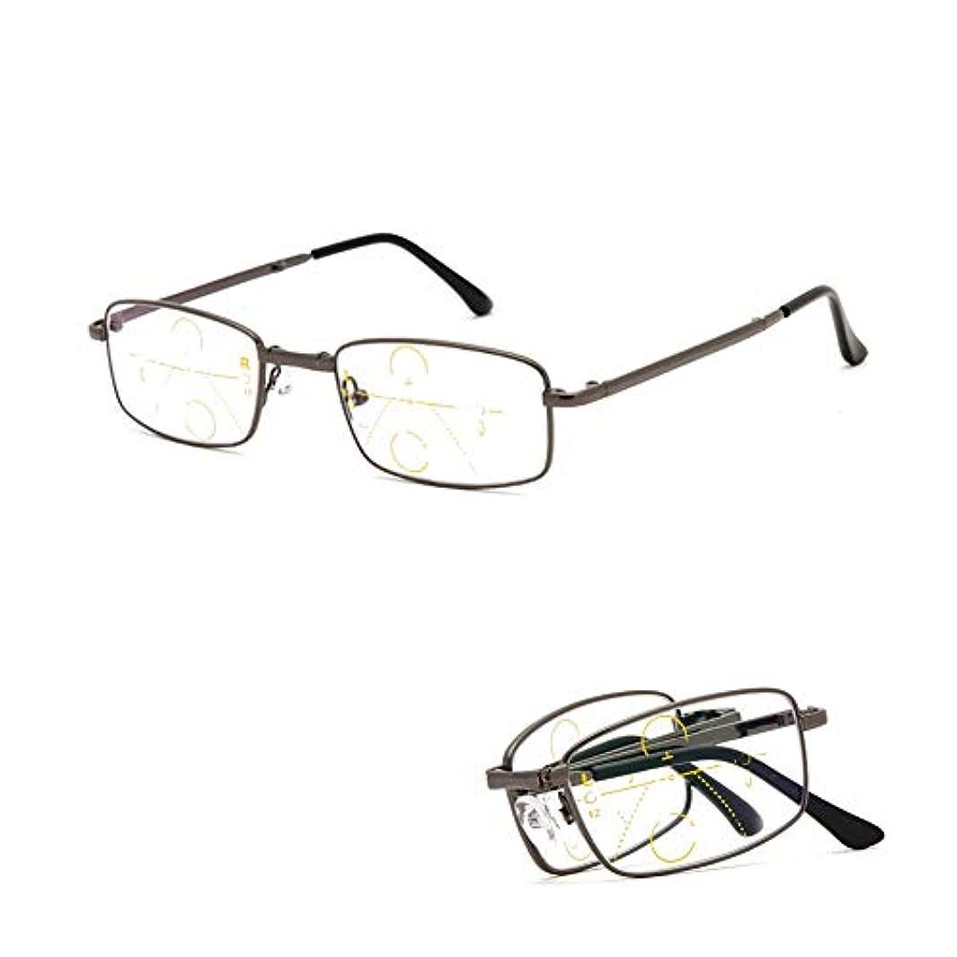 保持反対にノミネートアンチBlu-rayプログレッシブマルチフォーカス老眼鏡、男性用と女性用のフォトクロミック遠近眼鏡、スマートズーム折りたたみポータブルゴーグル