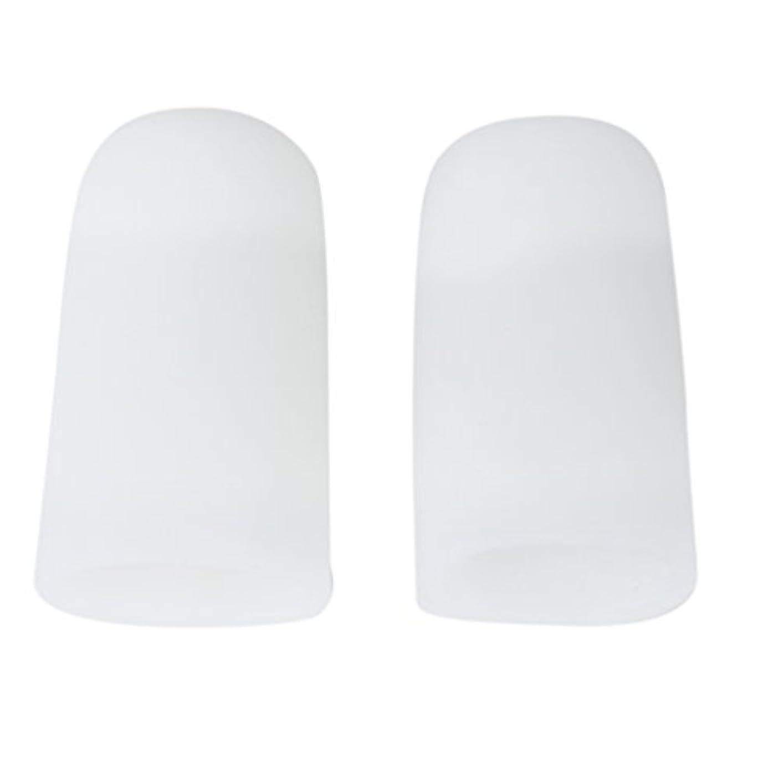 と闘う寝具好きである【Footful】足指保護キャップ つま先プロテクター 足先のつめ保護キャップ シリコン (L)
