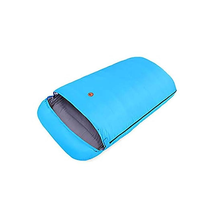 不快施設競う軽量のダブル寝袋テント寝袋防水コンプレッサーバッグを含む旅行の屋外のキャンプのため防水防水秋の夏の春を厚く (Color : Blue, Size : 3KG)