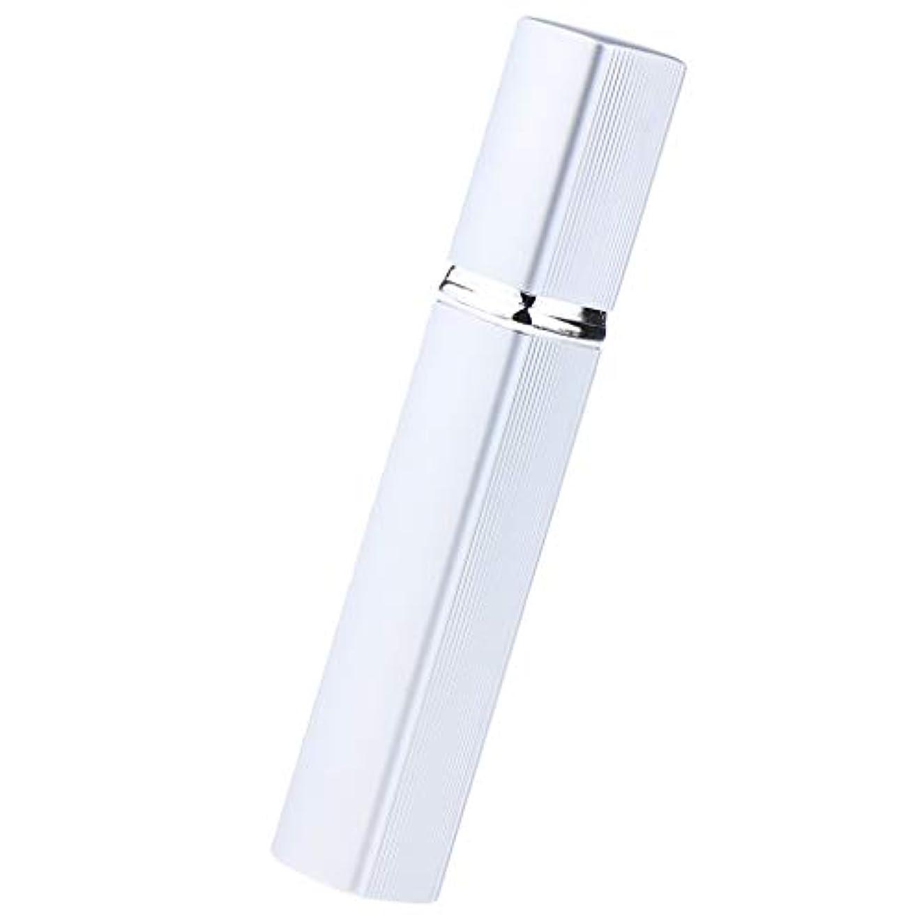 おとなしいひも段階香水瓶 スプレー 香水ボトル ガラス スプレーボトル 12ml 香りアトマイザー 多色選べ - 銀