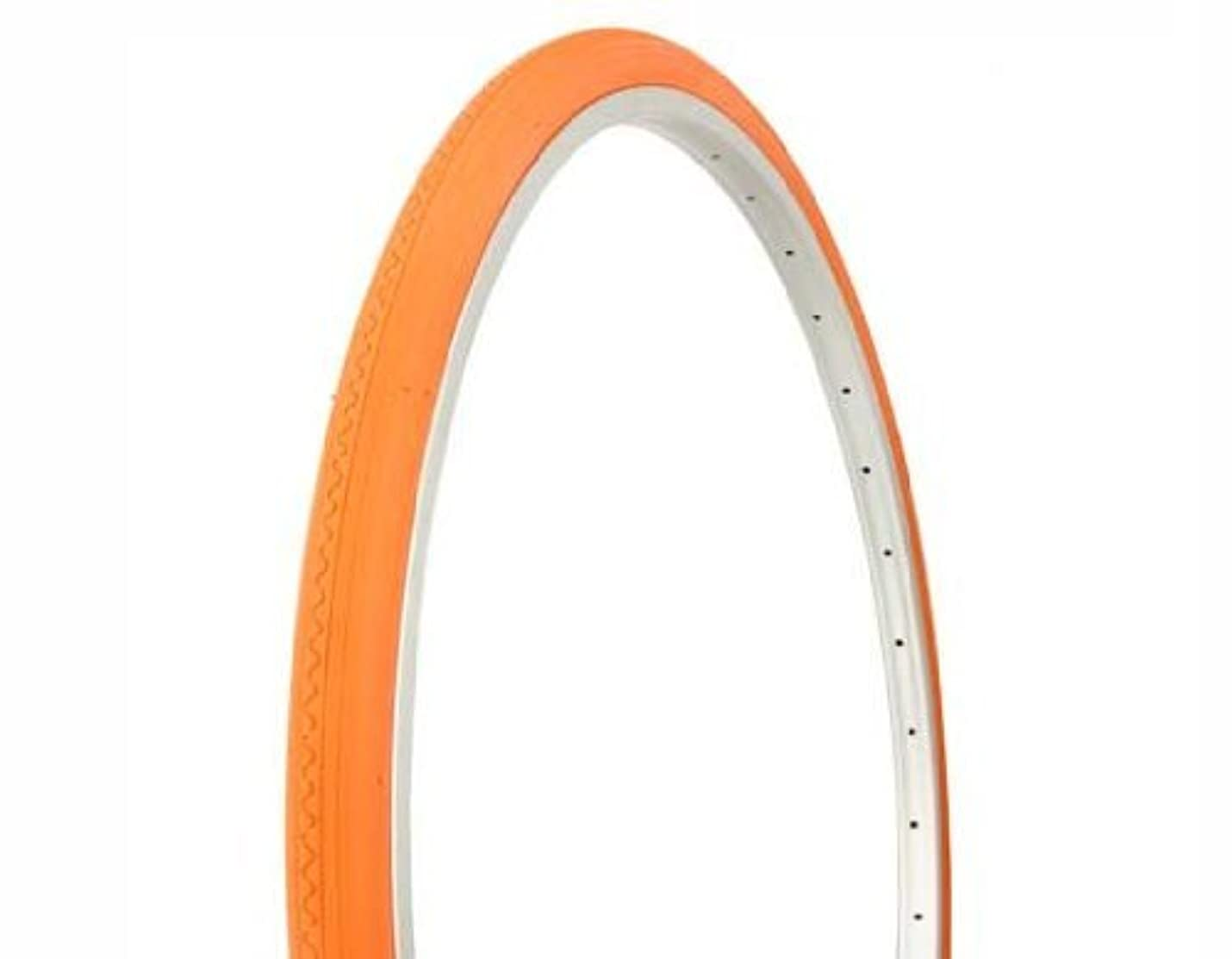 埋め込む驚くばかりカウントDuro Road Tire 27in x 1-1/4in, Solid Orange by Duro