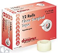 Clear Surgical Tape, 1 x 10 yds 144/Case by Dyranex