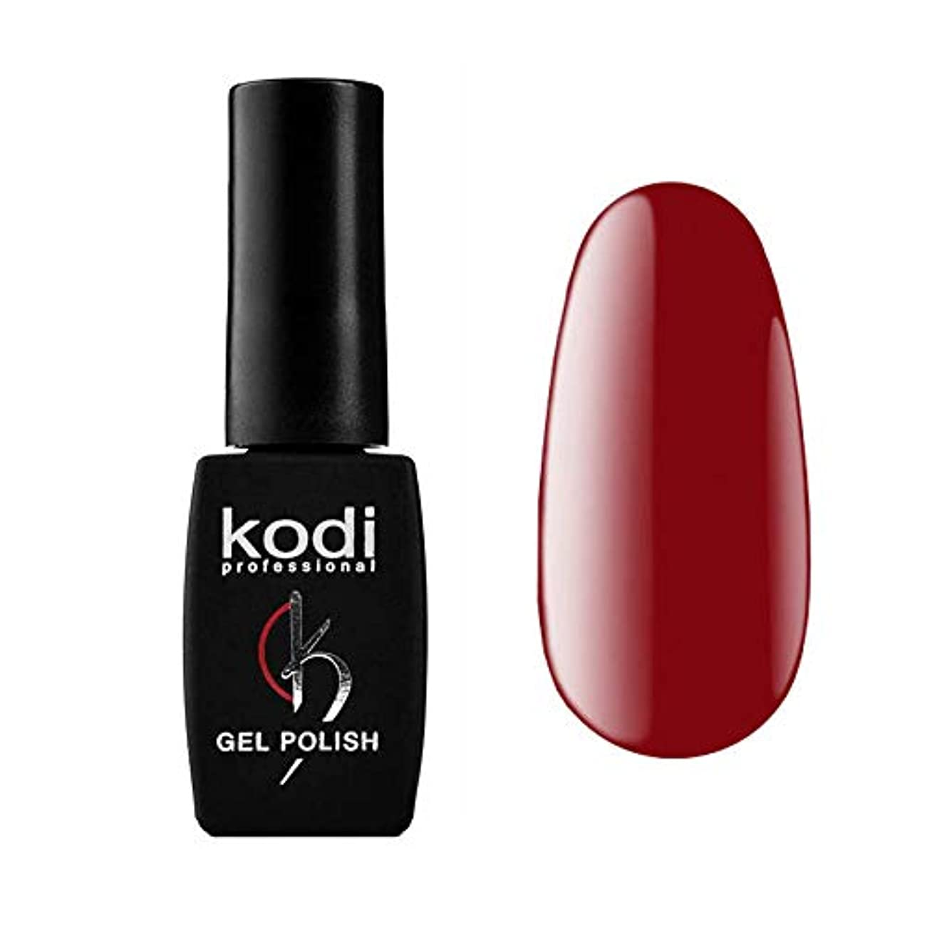 安全電子レンジオープニングKodi Professional New Collection R RED #20 Color Gel Nail Polish 12ml 0.42 Fl Oz LED UV Genuine Soak Off