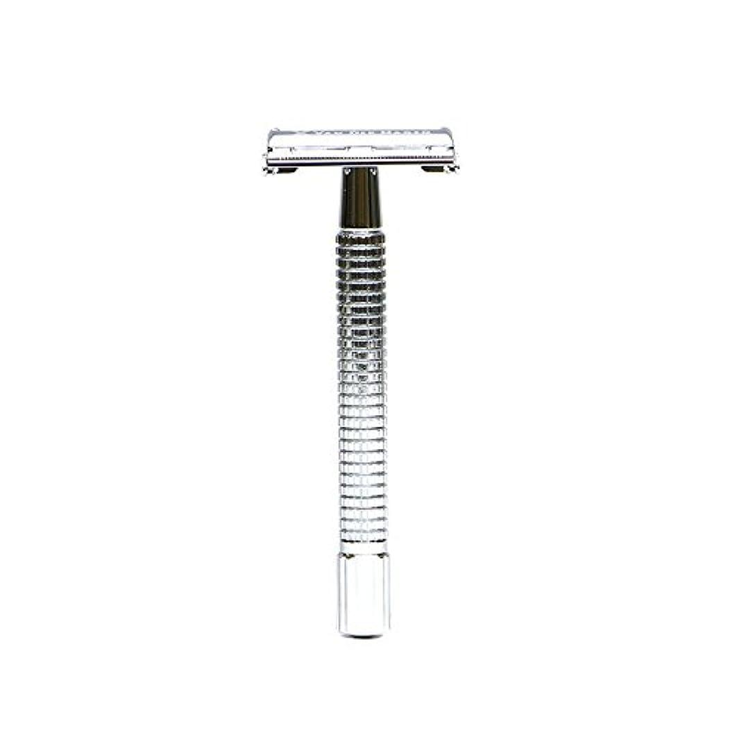 買う池疎外するVANDERHAGEN(米) トラディショナル 安全両刃カミソリ ロングタイプ バタフライタイプ 替刃5枚付